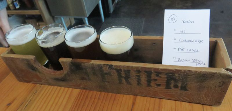 Pfreim's beer taster tray