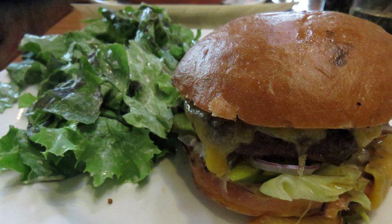 Cheeseburger at Pfreim's Brew pub