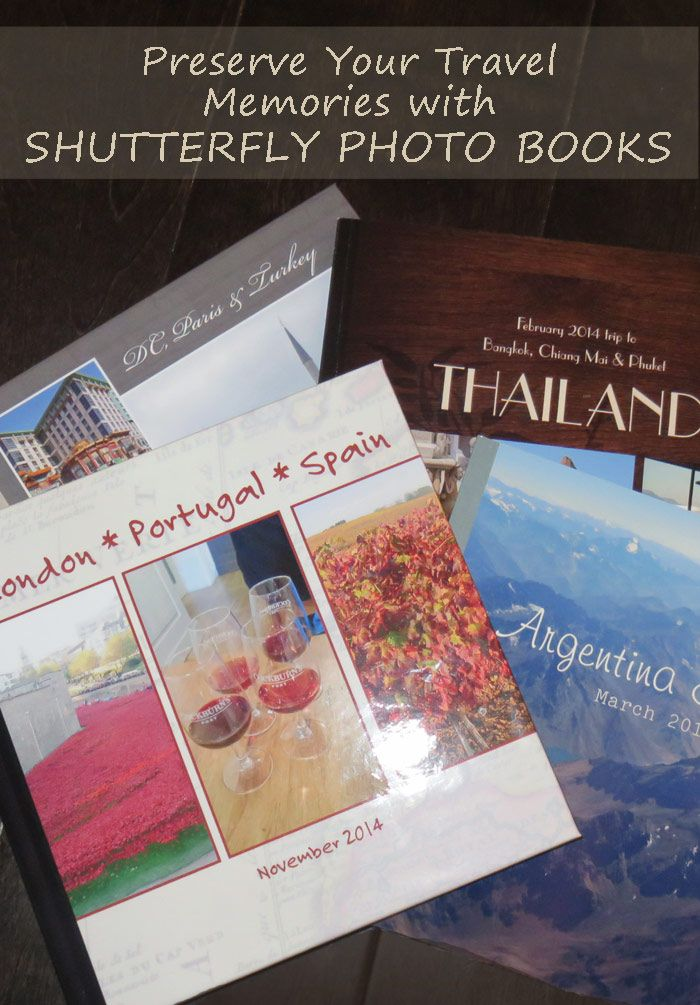 Preserve your Travel Memories with a Shutterfly Photo Book