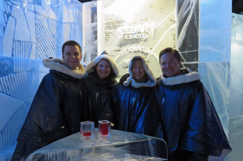 Visiting the Ice Bar