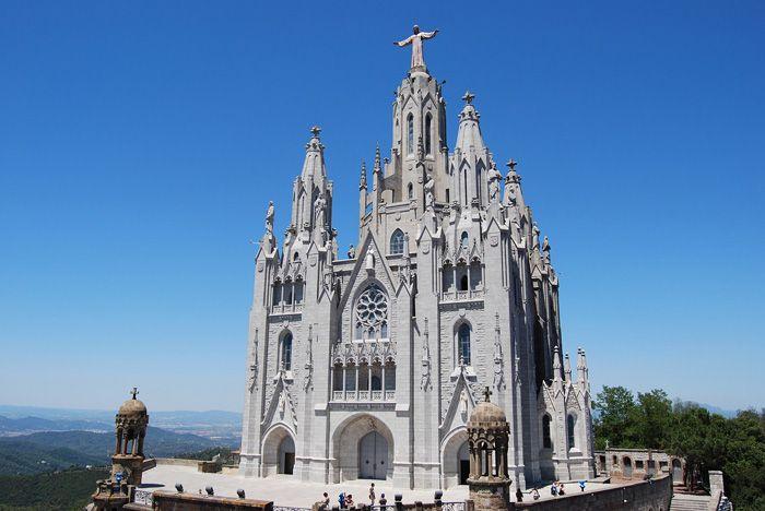 The Temple Expiatori del Sagrat Cor in Barcelona, Spain