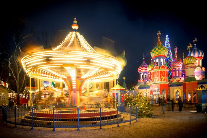 Rides and entertainment at Tivoli Gardens in Copenhagen