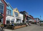 Shops along the water in Warnemunde, Germany