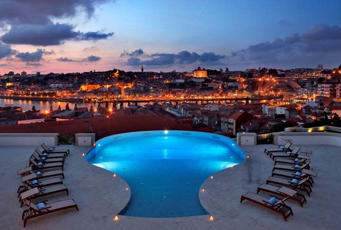 The Yeatman wine decanter-shaped pool in Porto, Portugal