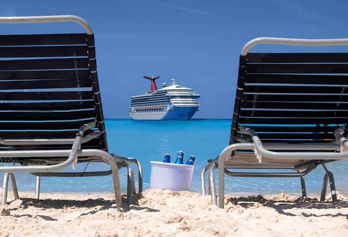 Relaxing on the beach is one of the biggest perks of a Caribbean Cruise.