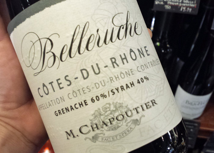 Choose a Cote du Rhone with Grenache to enhance the spicy flavor in the sauce.