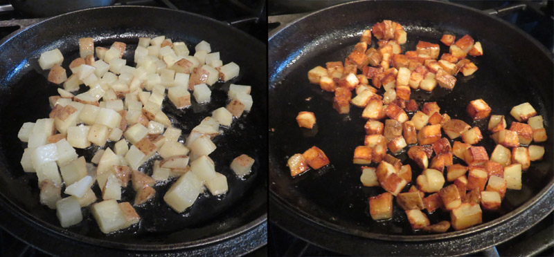 Frying potatoes in duck fat makes them extra crispy and delicious