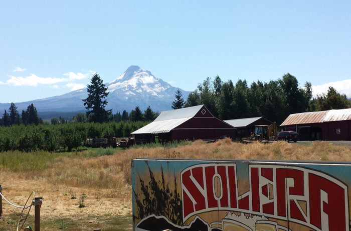 Solera Brewery with its amazing view of Mt Hood