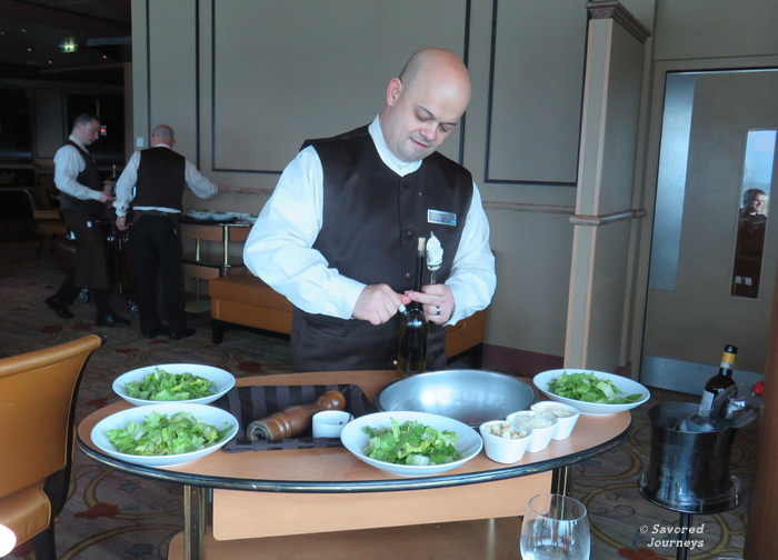 Caeser Salads are made tableside, just the way you want them.