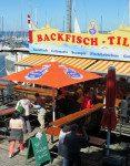 Fischbrotchen seaside food stand
