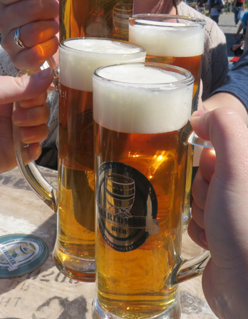Prost to the cute little town of Warnemunde