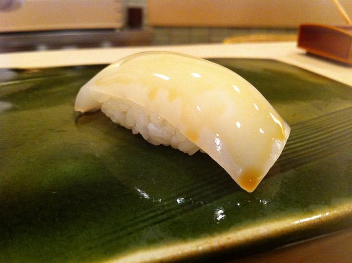 Squid (Ika) from Sukiyabashi Jiro in Tokyo, Japan