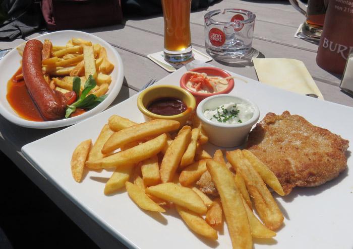 Lunch included schweineschnitzel and bratwurst