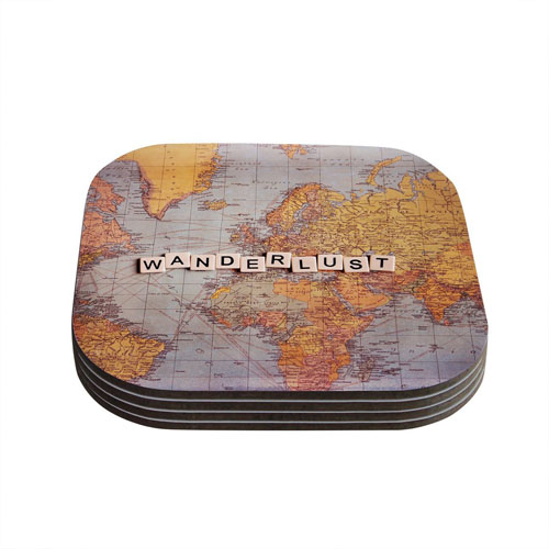 Travel Map Coasters