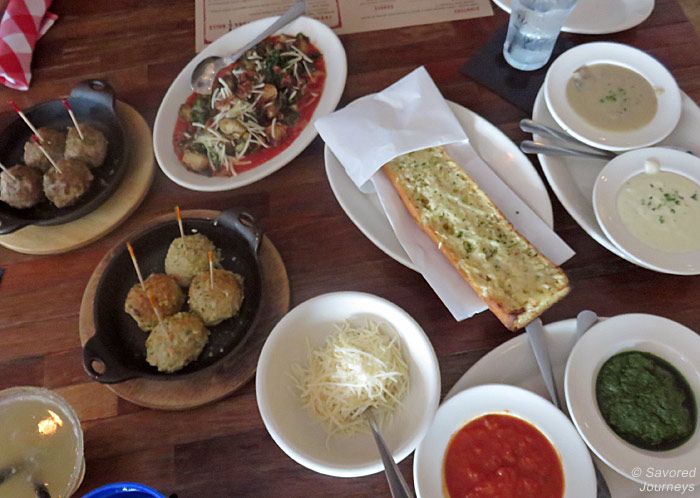 All the balls and sauces you can imagine at Fork & Balls