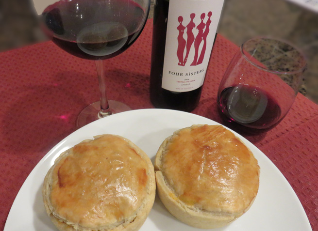 Australian Meat Pie with Shiraz