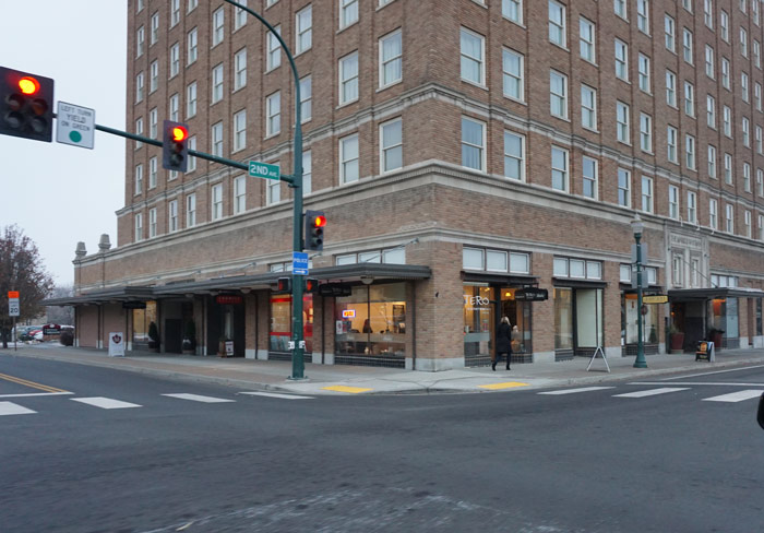 The Marcus Whitman Hotel in downtown Walla Walla