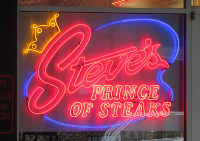 Steve's Pirnce of Steaks - a tasty alternative to all the others.