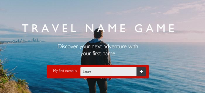 Flight Centre's Travel Name Game