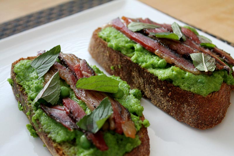 Pea Butter toast