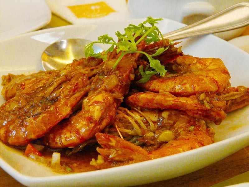 Shrimp Gambas is popular Filipino shrimp dish.