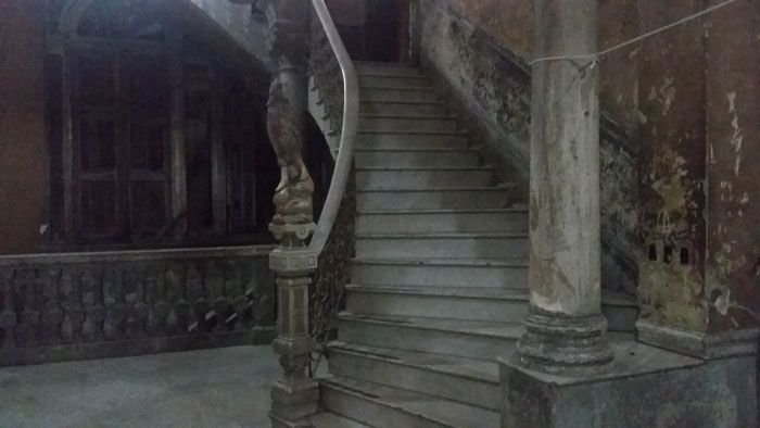 The hauntingly cool stairs that lead up to La Gaurida.