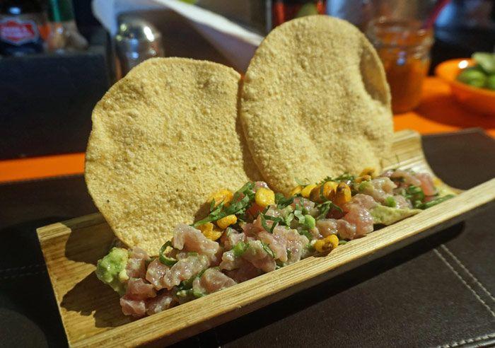 Tuna tartar from La Ahumadora in Mercado Roma