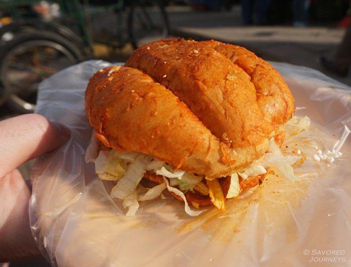 Pambazo sandwich