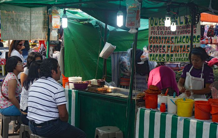 Street Vendors like this one can be found in many of Mexico's big cities.