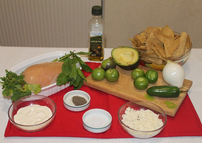 Ingredients for Mexican Chilaquiles