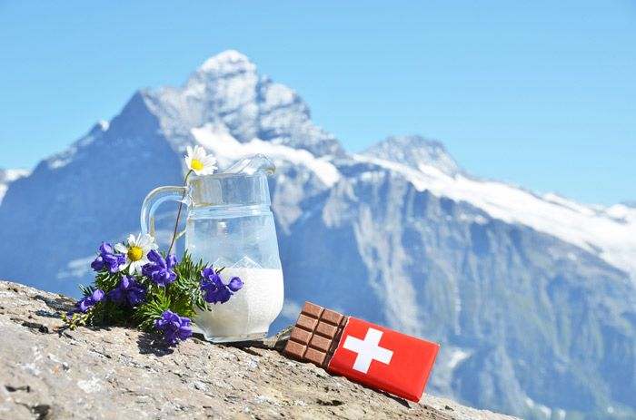 Swiss chocolate is some of the best in the world.