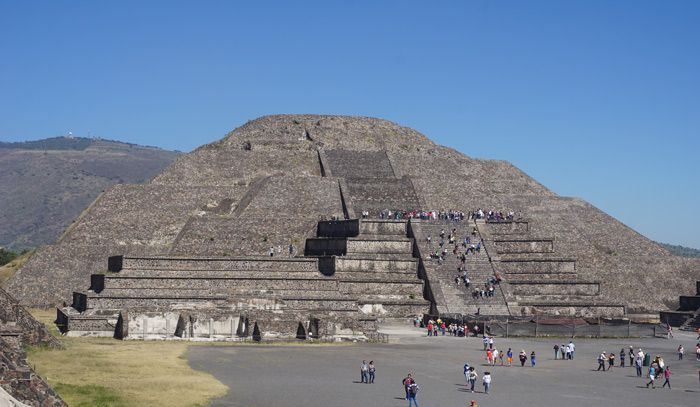 The Pryamid of the Moon at Teotihuacan