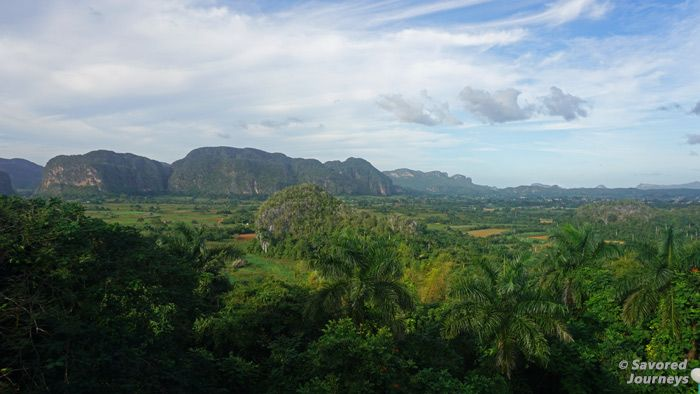 The view of Valle de Vinales from Hotel Cubanacán Los Jazmines
