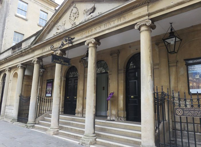 The Pump Room near the Roman Baths in Bath, England