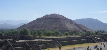 The Pryamid of the Sun at Teotihuacan