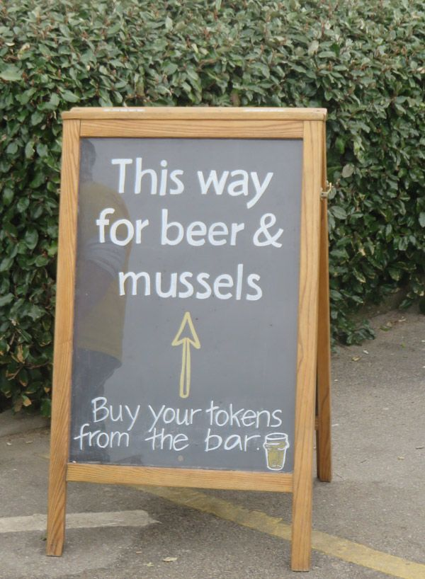 The Cornish Arms Beer & Mussels Festival in St. Merryn, England
