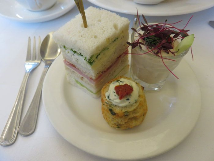 Savory afternoon tea delights at The Pump Room