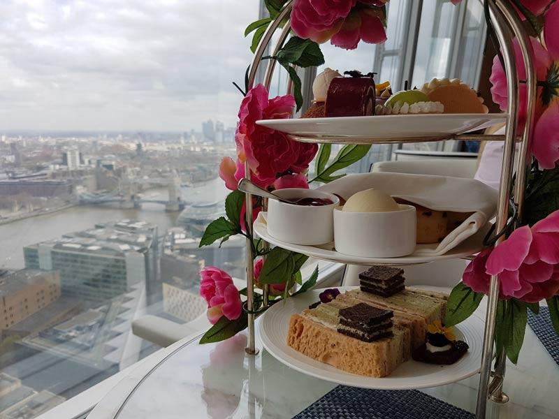 Afternoon tea at the Shangri-La Hotel at the Shard
