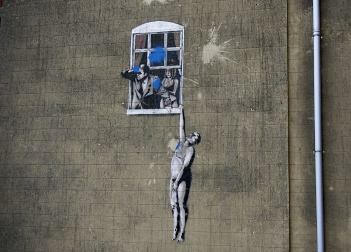 The Well-Hung Lover by Banksy