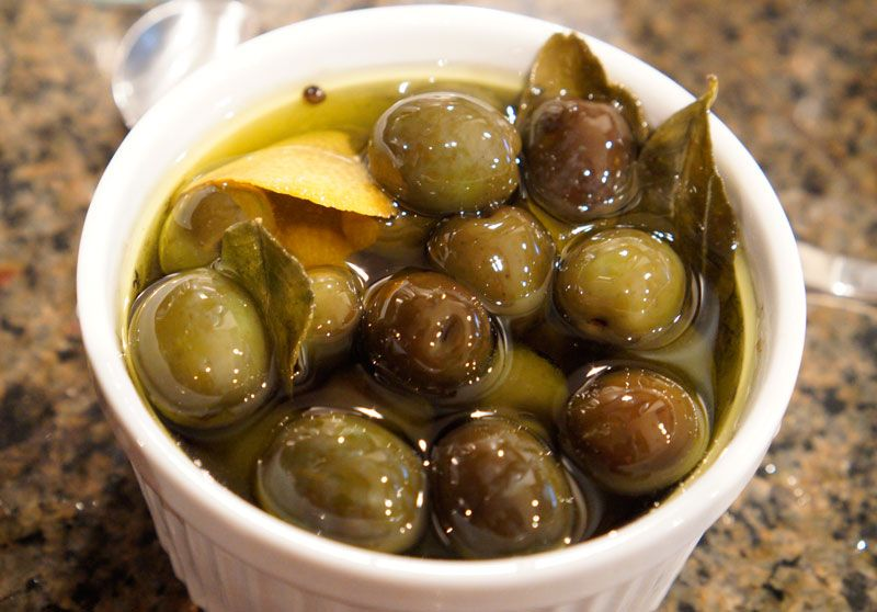 Warm Citrus & Herb-Marinated Olives