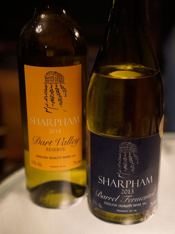 Sharpham Winery - our first taste of English wine