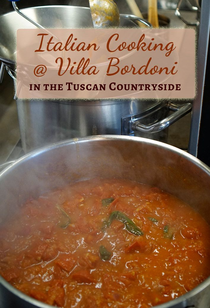 Learning to cook Italian food in the Tuscan countryside at Villa Bordoni