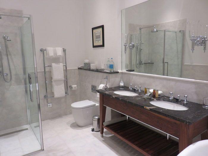The gorgeous bathroom at Lucknam Park Hotel