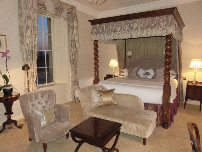 A Grand Suite room at Lucknam Park - opulence all the way