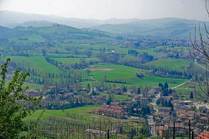 The view from our lunch trattoria in the hills outside of Bologna