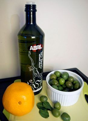 Ingredients for Warm Citrus & Herb-Marinated Olives