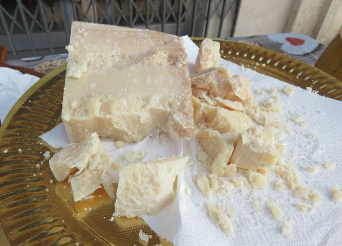 Parmigiano-Reggiano tasting at the Breakfast of Champions