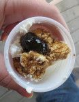 Fresh ricotta with balsamic jelly