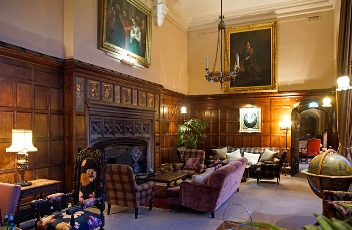 Thornbury Castle drawing room and lounge.