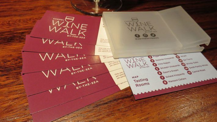 The Wine Walk Passport is a great way to taste at a bunch of the Carmel wineries (Photo: Savored Journeys)